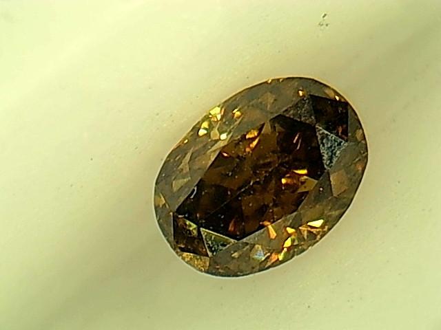 0.19ctFancy Dark greenish Brown  Diamond , 100% Natural Untreated