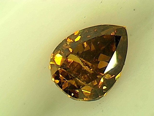 0.24ct Fancy Deep orangish brownish Green  Diamond , 100% Natural Untreated
