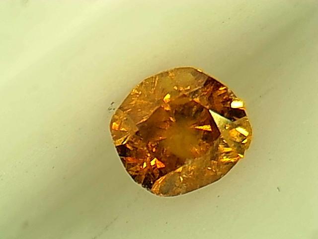 0.17ct Fancy Deep brownish Orange  Diamond , 100% Natural Untreated