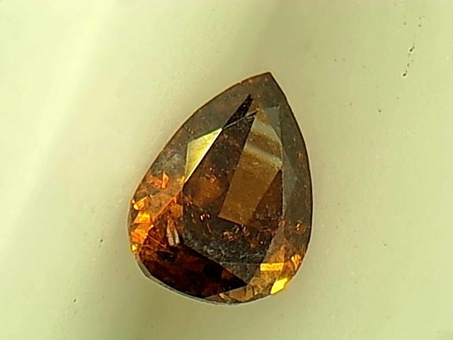 0.13ct Fancy Deep Orange Brown Diamond , 100% Natural Untreated