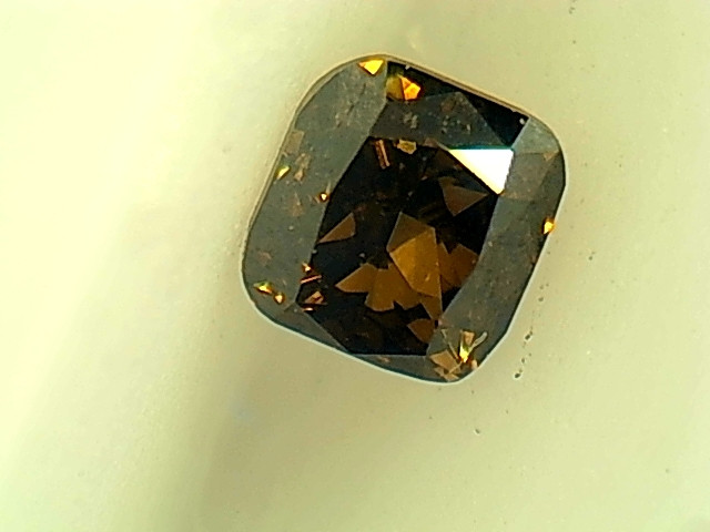 0.18ct Fancy Dark Brown Green Diamond , 100% Natural Untreated
