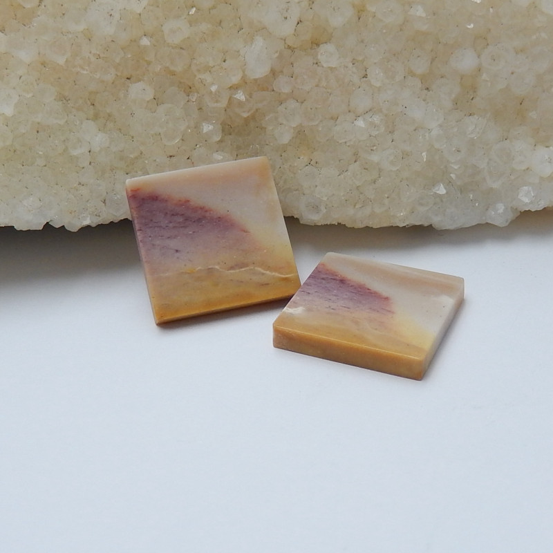 17.5cts wholesale natural mookite jasper square cabochon beads (A566)