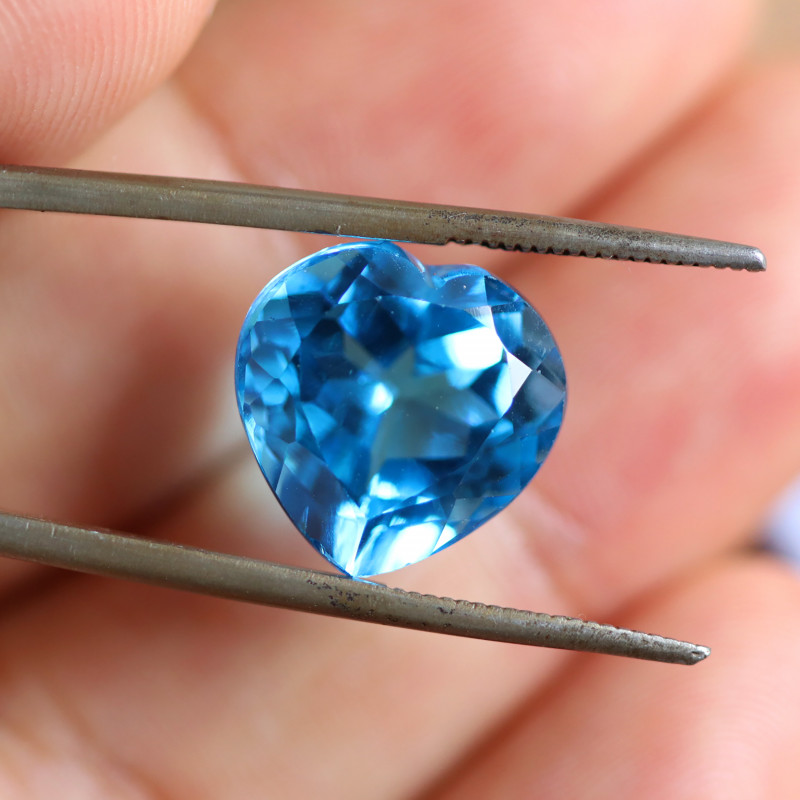 10.47 CTS ELECTRIC BLUE TOPAZ  STUNNING  [GERMANY TREATED][S-SAFE241]