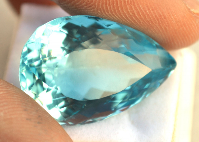 53.63 Carat Topaz -- Amazing Pear Cut Stone!