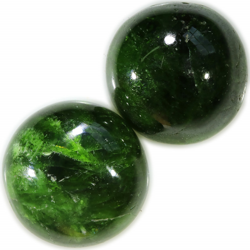 35.50 CTS CHROME DIOPSIDE  CAB- RICH GREEN [STS1542]