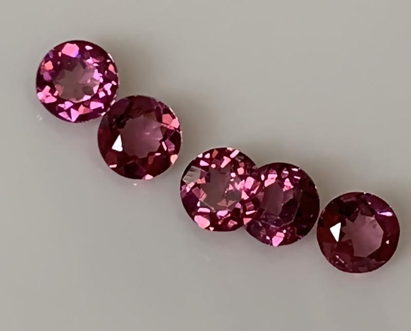 ⭐Incredibly Beautiful Cherry Pink Rhodolite Garnet Parcel 5 gems