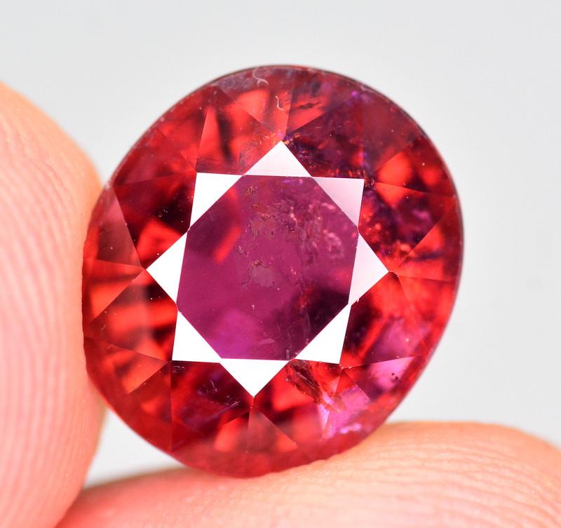 5.70  Ct Marvelous Color Natural Rubelite Tourmaline