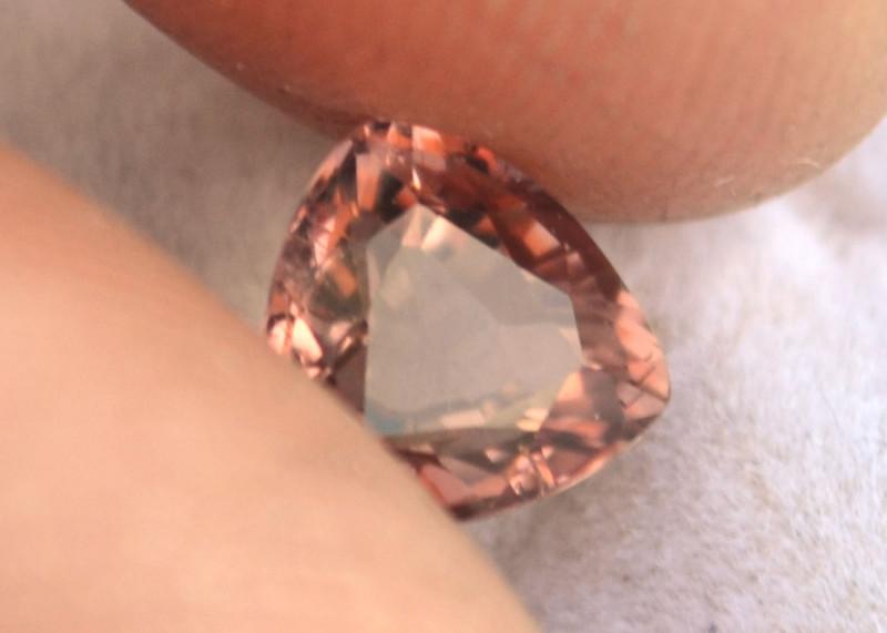 1.40 Carat Zircon -- Nice Rose Pink Trillion Cut Stone