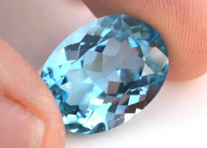 23.31 Carat Topaz -- Fine Sky Blue Oval Cut Stone