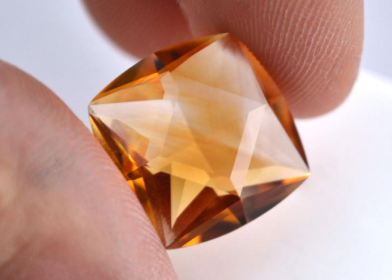 13.97 Carat Citrine -- Fine Fancy Cut Stone