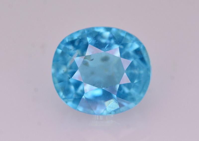 Rare 1.70 Ct Brilliant Color Natural Blue Apatite