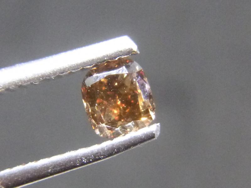 0.51ct Fancy Dark Brown-Red  Diamond , 100% Natural Untreated