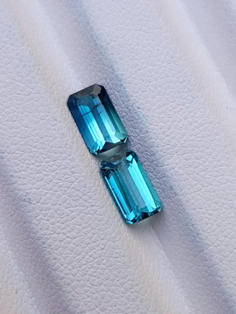 220 Ct Natural Blueish Transparent Ring Size Tourmaline