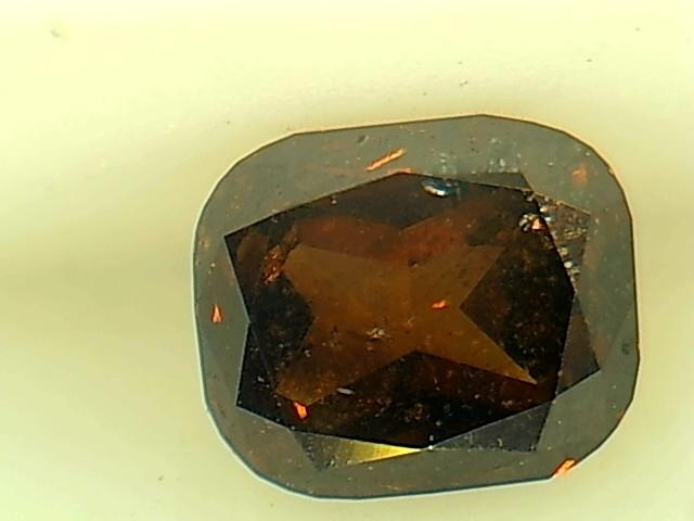 0.48ct Fancy Dark Orange Brown  Diamond , 100% Natural Untreated