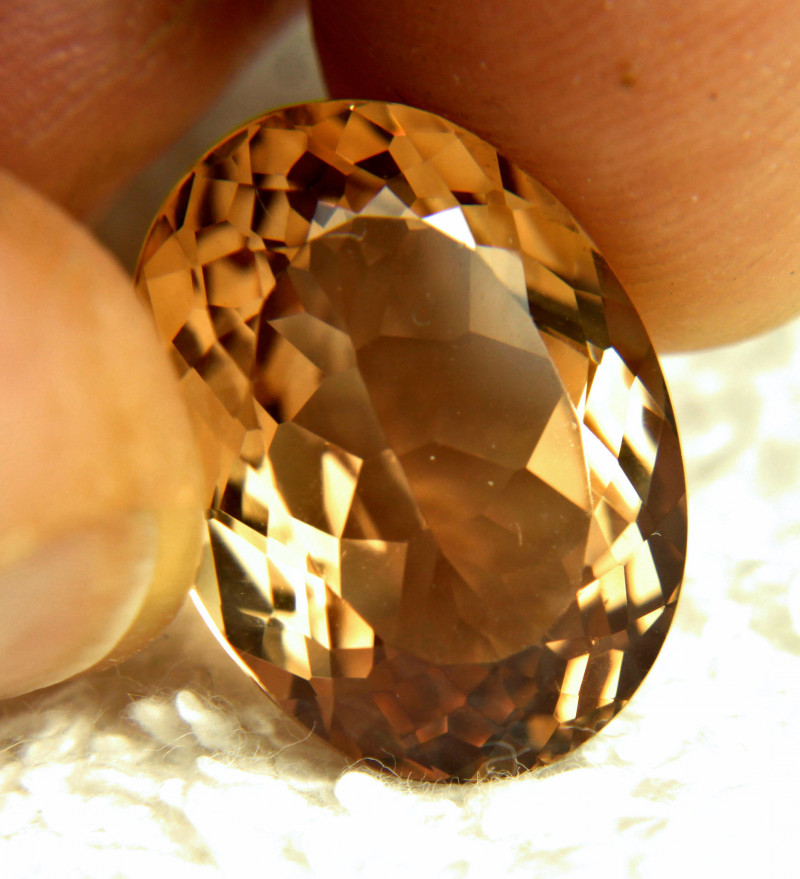 17.21 Carat Golden Brown VVS Brazil Topaz - Gorgeous