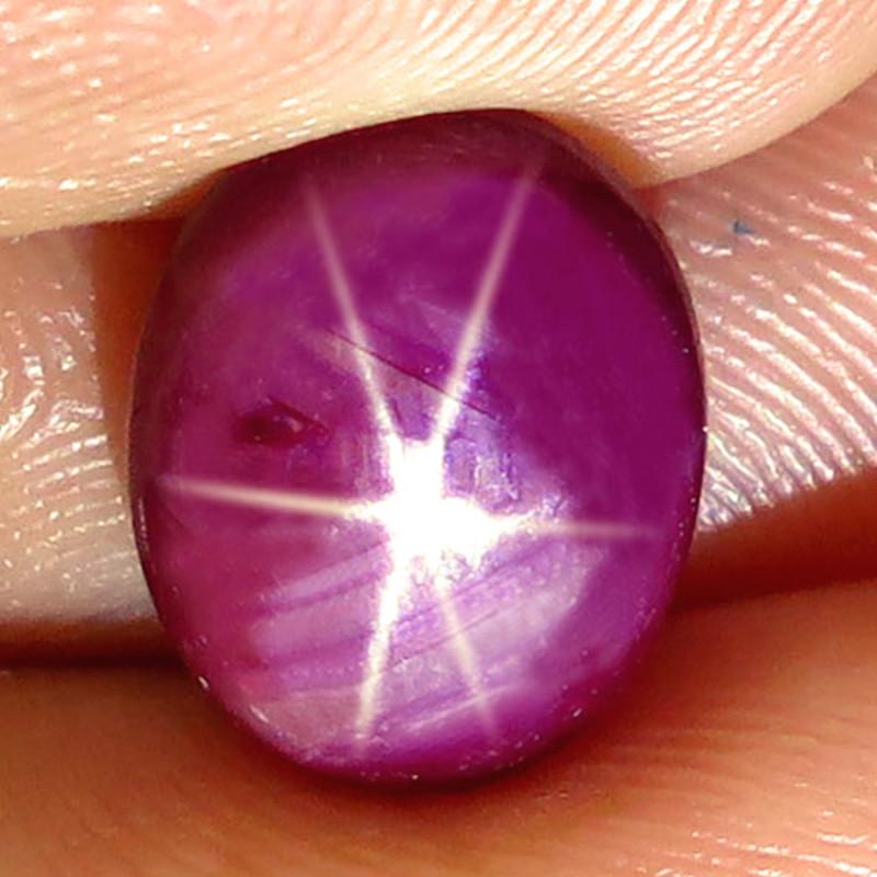 4.47 Carat Fiery Star Ruby.