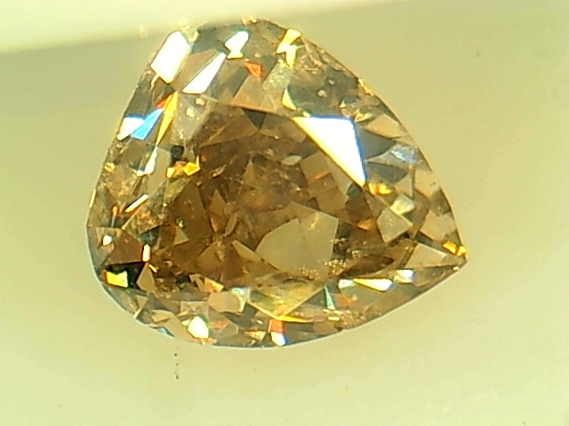 0.43ct Fancy Light yellowish Brown  Diamond , 100% Natural Untreated