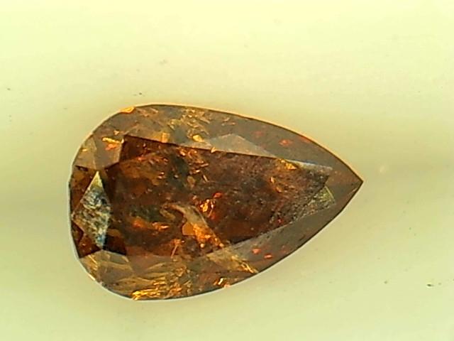 0.20ct Fancy Deep reddish Orange  Diamond , 100% Natural Untreated