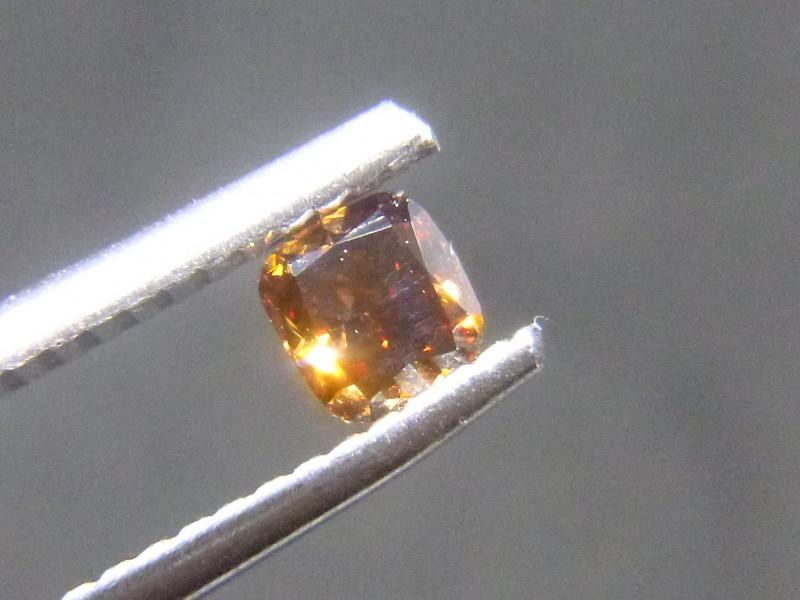 0.27ct Fancy Dark brownish orangish Red  Diamond , 100% Natural Untreated