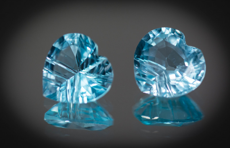 Blue Topaz 10 mm 7.48 ct Brazil GPC Lab