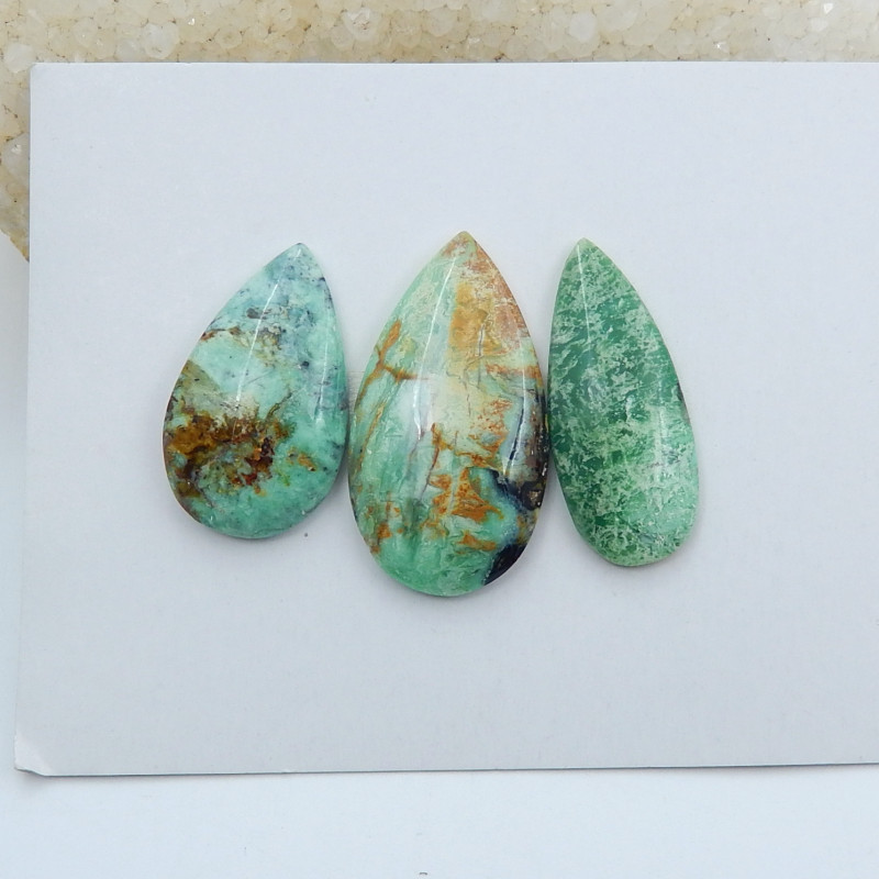 72cts New arrival natural chrysocolla oval cabochon beads   (A621)