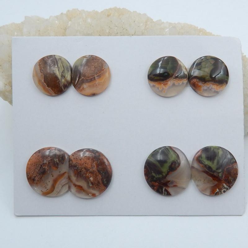 86cts Wholesale natural mushroom jasper cabochon beads semi-gem (A633)