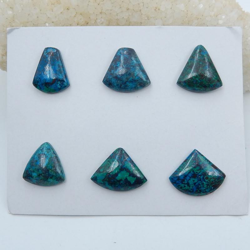 84cts Azurite gemstone cabochon beads triangle shape beads (A634)
