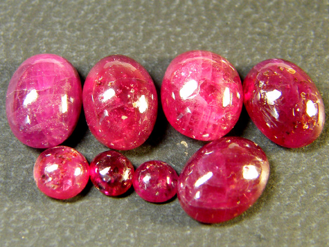 PARCEL BLOOD RED RUBIES LARGE CABOCHON 10 CTS RM 448