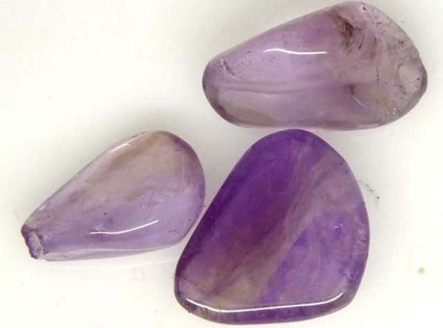 AMETHYST BEAD NATURAL 3 PCS 24 CTS  NP-1362