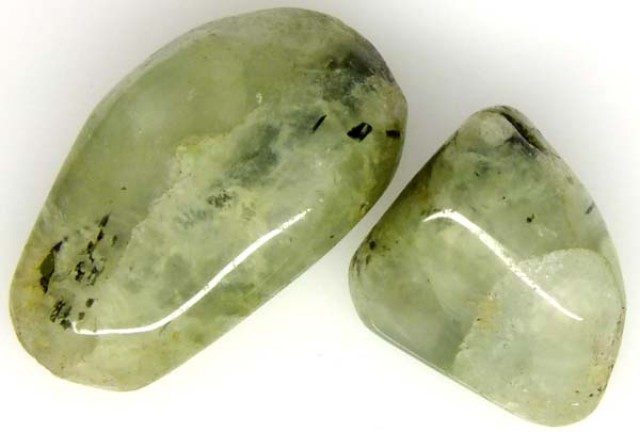 PREHNITE BEAD DRILLED 2 PCS 50 CTS  NP-1546