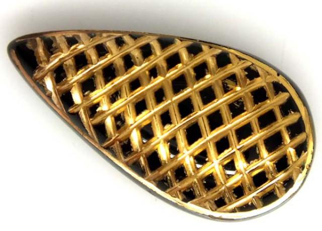 BLACK ONYX 24K GOLD ENGRAVED 16 CTS LG-695