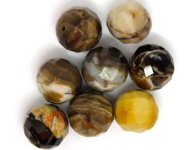 PETRIFIED WOOD BEADS, (8 PC) 64.45 CTS  NP-1196