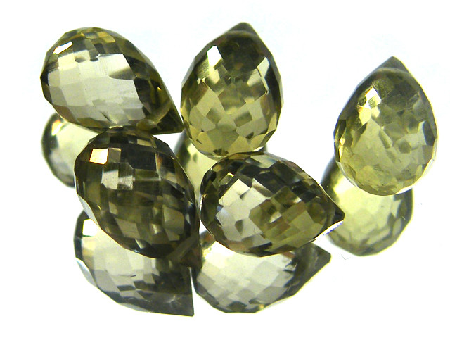 AAAA VS1 FLAWLESS BIOLETTE BEADS LEMON TOPAZ 10 CTS SGS 818