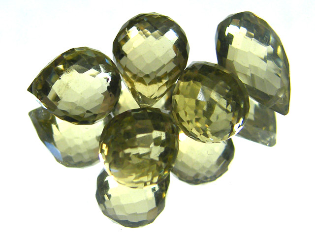 AAAA VS1 FLAWLESS BIOLETTE BEADS LEMON TOPAZ 15 CTS SGS 836