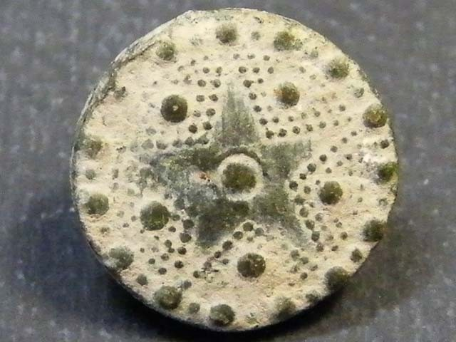 SPANISH MILITARY CUFF BUTTON     T  1184