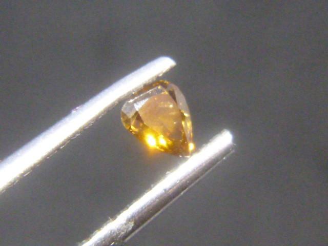 0.21ct Fancy Deep Brown Orange  Diamond , 100% Natural Untreated