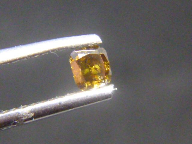 0.22ct Fancy Deep yellowish Greenish Brown  Diamond , 100% Natural Untreate