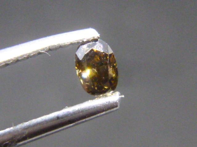 0.19ct  Fancy Dark Greenish Brown Diamond , 100% Natural Untreated