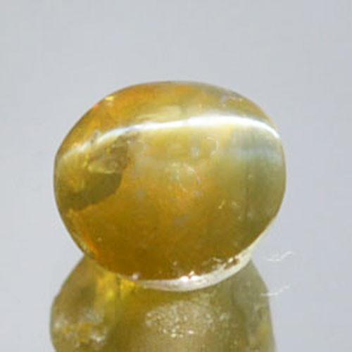 1.48Cts Natural Honey Green Natural Chrysoberyl Cat's Eye