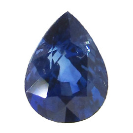 0.92 ct Rich Blue Pear Shape Blue Sapphire