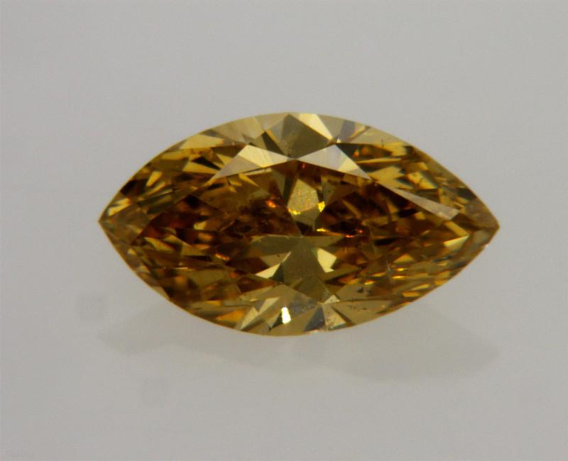 Beautiful Natural Fancy  Brown Yellow Diamond GIA certified   +VIDEO