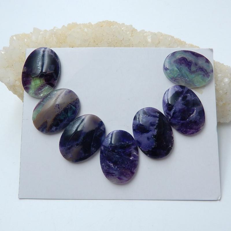 139.5cts Rainbow fluorite  cabochon beads healing gemstone (A663)