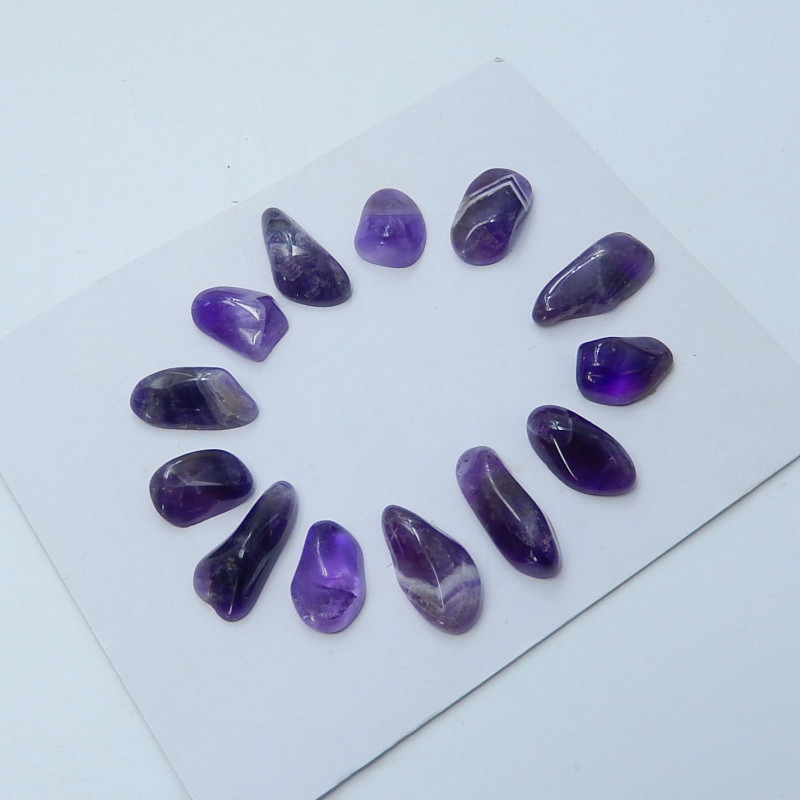 81.55cts Wholesale amethyst cabochon beads healing stone(A657)