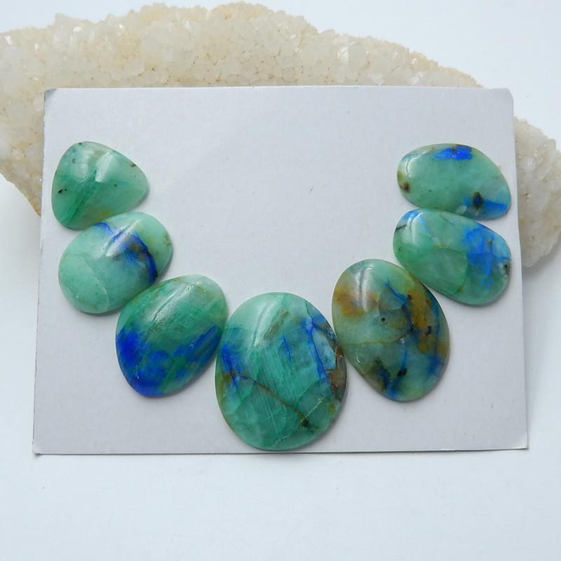 148.75cts Healing stone natural chrysocolla  cabochon beads  (A654)