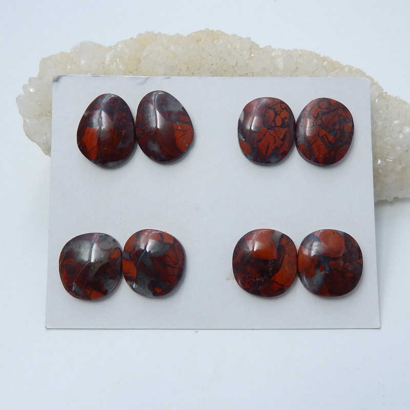 130cts wholesale natural african red stone cabochon beads semi-gem (A638)