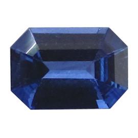 0.67 ct Emerald Cut Blue Sapphire  (Deep Rich Blue)