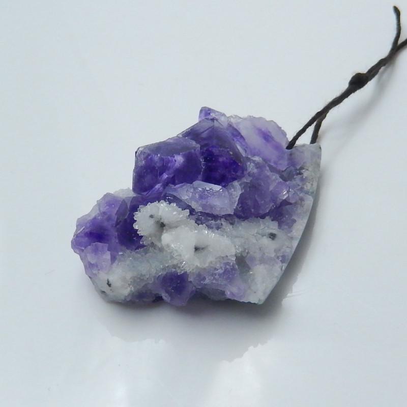 amethyst pendant, raw amethyst, hand cut amethyst, nugget pendant(A683)