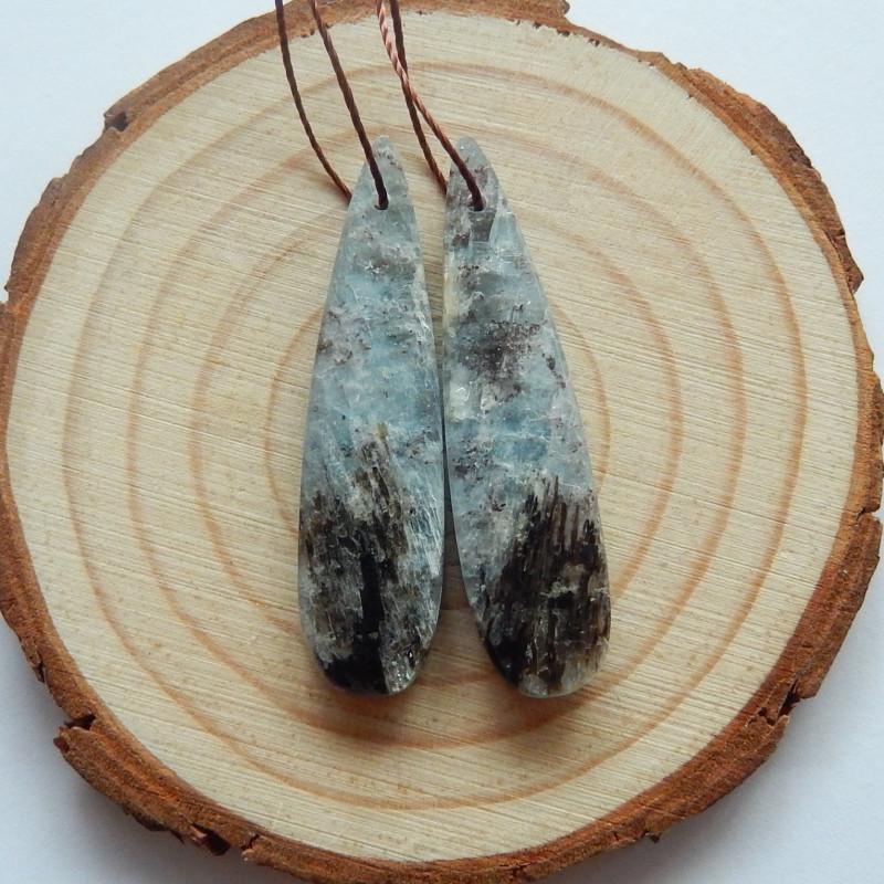 44cts Blue kyanite earrings ,tear drop earrings ,healing stone (A718)