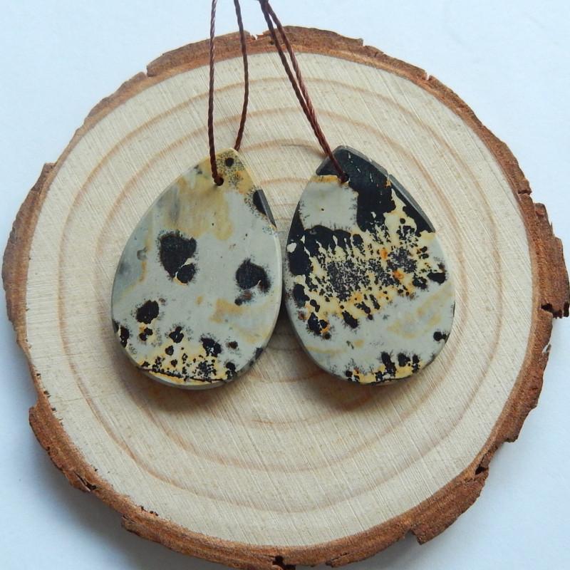 37cts Chohua jasper earrings ,tear drop earrings ,healing stone (A737)