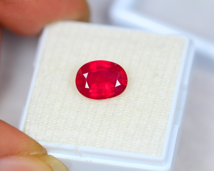 2.56Ct Ruby Composite Oval Cut Lot B243